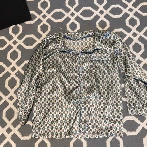 Vintage patterned silk shirt